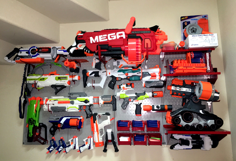 Wall Control Pegboard Nerf Gun Rack Photo Contest Winner 2017 Q1
