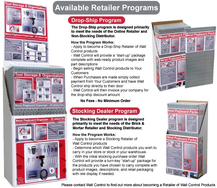 Become A Wall Control Pegboard Distributor