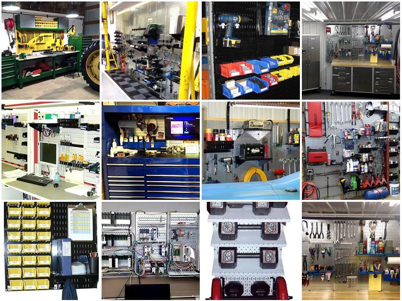 Wall Control Industrial Metal Pegboard Heavy Duty Pegboard Tool Storage