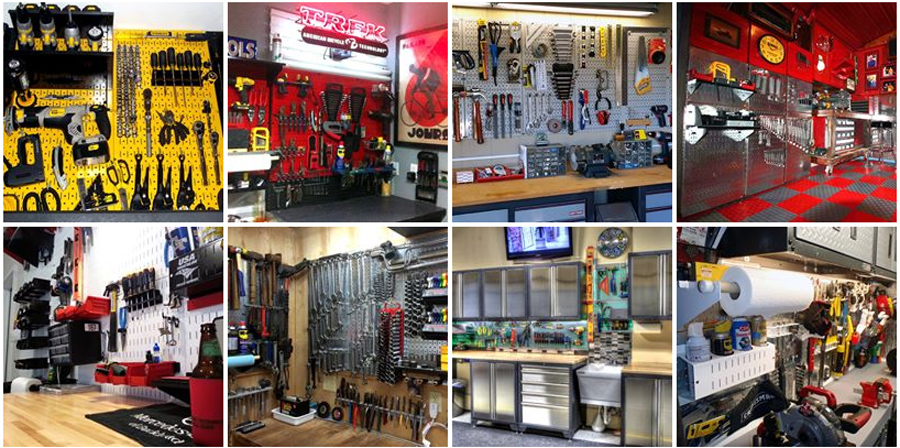 pegboard ideas for garages - Garage Pegboard Tool Organizers