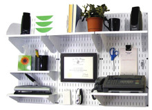 pegboard office organizer white