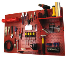 Standard pegboard workbench organizer by wall control