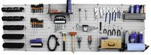 large pegboard tool organizer