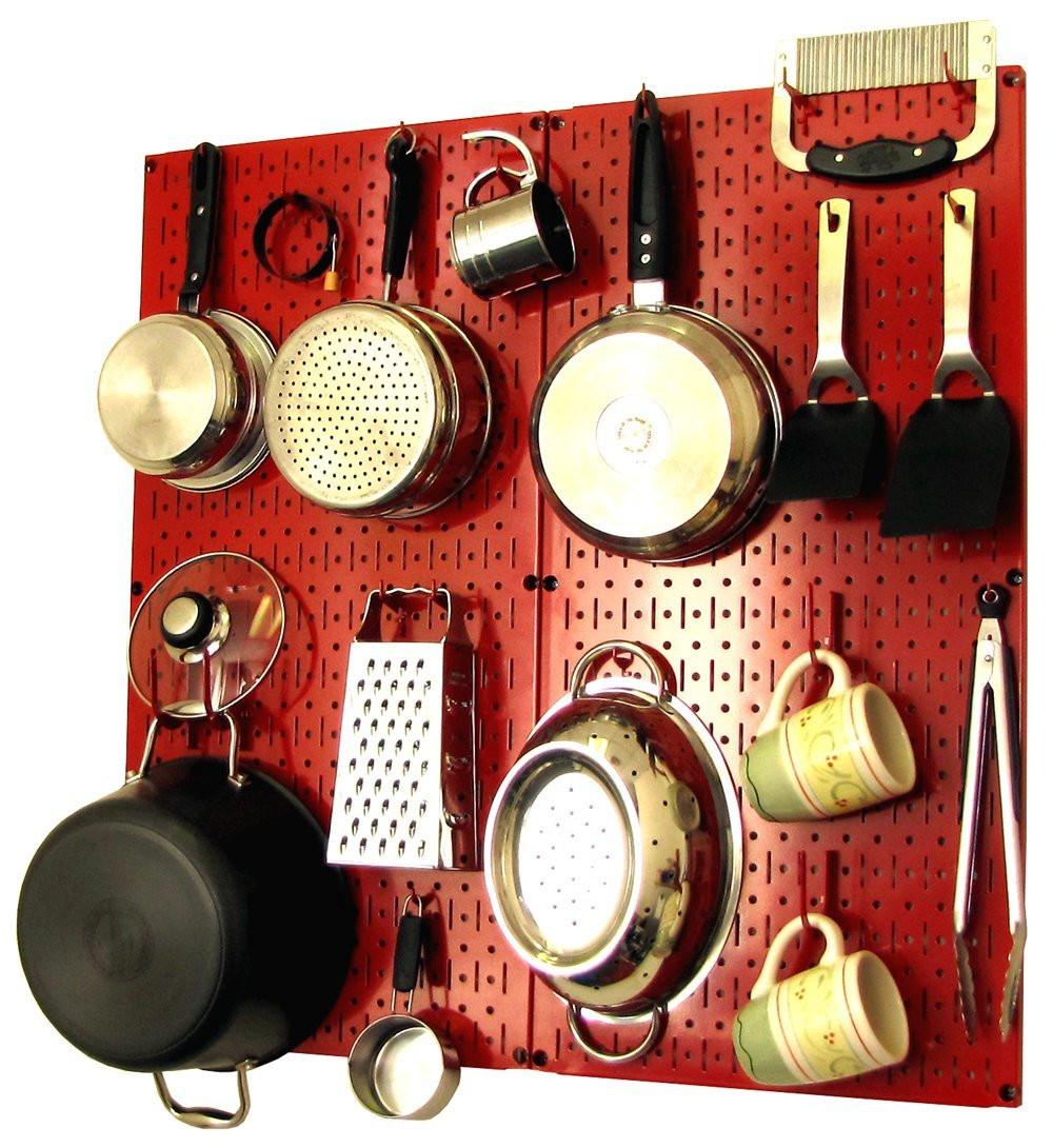 Pegboard Kitchen Storage: Modern Kitchen Peg Board Organizer