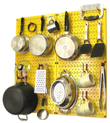 chic kitchen pegboard