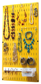 Jewelry Organizer Yellow Wall Hanging Jewelry Holder Necklace Rack