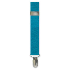 New Caribbean Blue Clip On Suspenders
