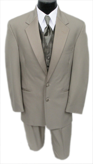 Perry Ellis Republic Champagne Tuxedo Jacket and matching Pants - Previously Rented