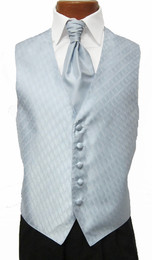 Light Powder Blue Spectrum Vest with Sharpei Long Tie