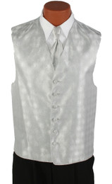 Platinum Silver Perry Ellis Long Tie