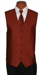 "Ralph Lauren ""Vineyard"" Vest and Long Tie in Terracotta"