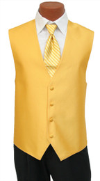 """Red Sleeve """"Reflection"""" Vest and Long Tie Set in Saffron"""