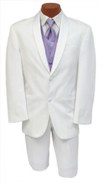 White Avanti Tuxedo Front (Jacket and Pants)