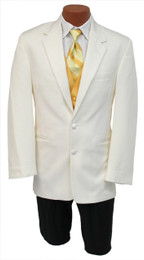 Ivory Tuxedo - 2 Button Notch Jacket (Jacket Only)