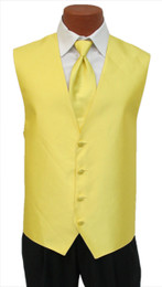 """Red Sleeve """"Reflection"""" Vest and Tie in Sunflower"""