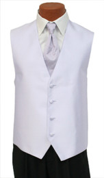 """Red Sleeve """"Reflection"""" Vest and Tie in Lilac"""