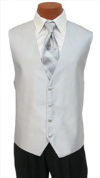 """Red Sleeve """"Reflection"""" Vest and Tie in Silver"""
