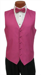 """After Six """"Radar"""" Vest and Bow Tie in Fuchsia Watermelon"""