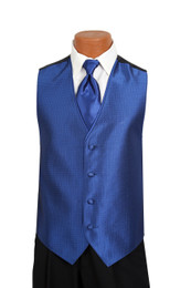 Sterling Vest and Tie Set in Royal Blue