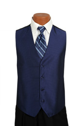 Sterling Vest and Tie Set in Midnight