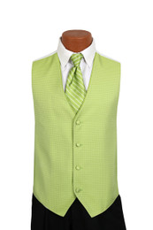 Sterling Vest and Tie Set in Keylime