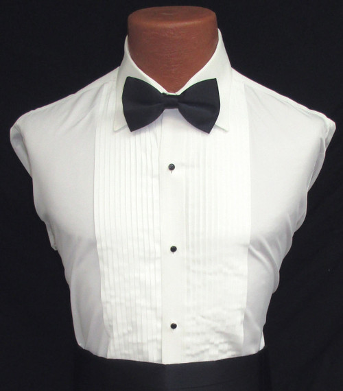 Ivory Laydown Shirt with Bow Tie, Studs, and Cufflinks