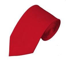 "Red Slim 2.75"" Self Tie Long Tie"