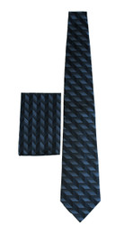 New 100% Silk Blue/Midnight Tie and Pocket Square