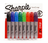 437979, Sharpie Set, Chisel, Assorted, 8/markers