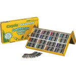 438144, Crayola Construction Paper Crayon Set, Regular, 16 color, 400 ct. Classpack