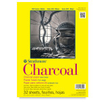 """347058, Strathmore Charcoal 300 Series Tape Bound, 9""""x12"""""""