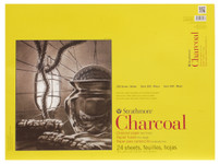 """347060, Strathmore Charcoal 300 Series Tape Bound, 18""""x24"""""""
