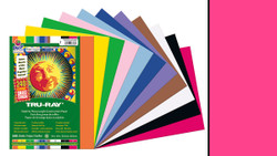 """342145, Tru-ray Construction Paper, Shcoking Pink, 9""""x12"""""""