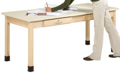 "701102, Art Planning Table, 1-3/4"" Maple, 72""Wx30""Dx32""H"