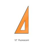 """572012, Triangle 30/60degree, Fluorescent, 12"""""""