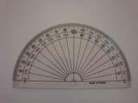 """571510, Semi Circular Acrylic Protractor, Student Grade, 4"""""""