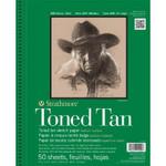 """341771, Toned Sketch - 400 Series, Tan,  9""""x 12"""" 50 sheets per pad"""