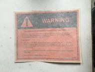 LABEL, AUTOSTART WARNING (CAB)