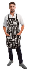 Apron Old Fashioned Print - Black Background