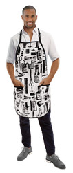 Apron Old Fashioned Print - White Background