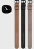 Nava Stone Black Gift Collection with Three Leather Straps