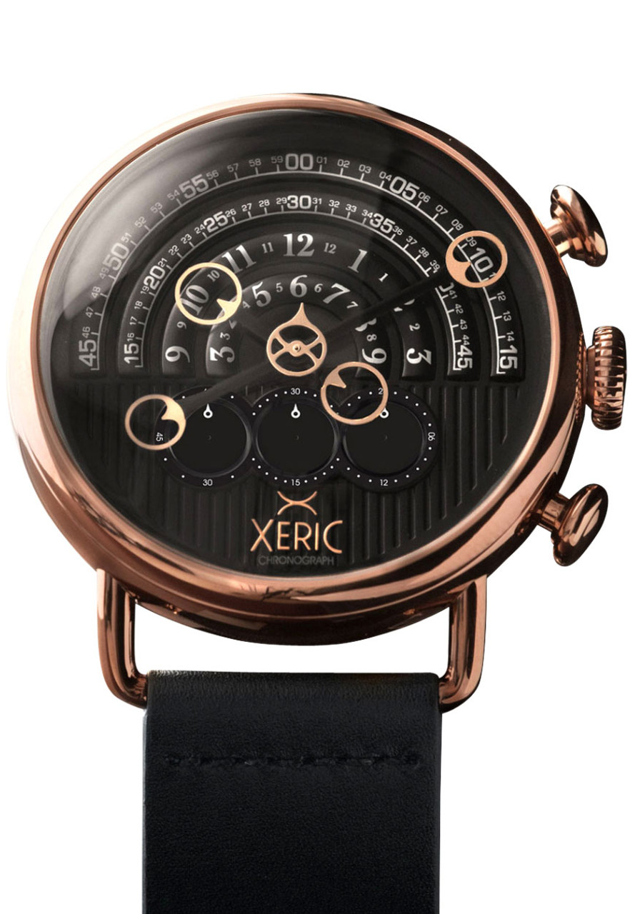 Xeric halograph chrono rose gold black for Watches xeric