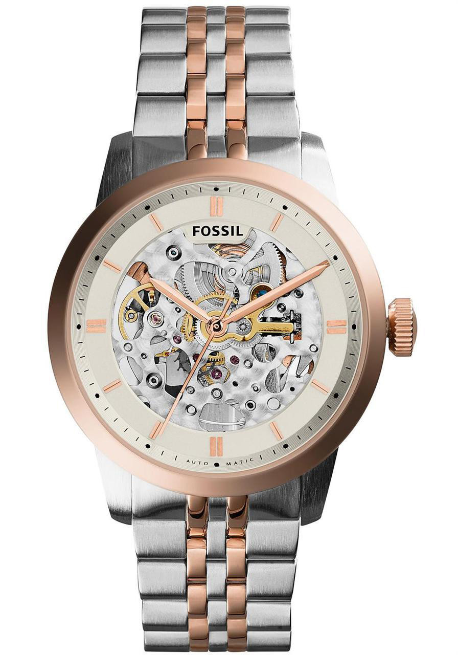 Fossil ME3075 Townsman Automatic Silver/Rose Gold ...