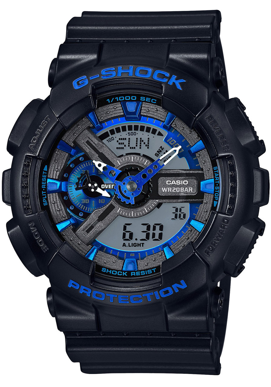 G shock ga 110cb 1a xl black blue for Watches digital