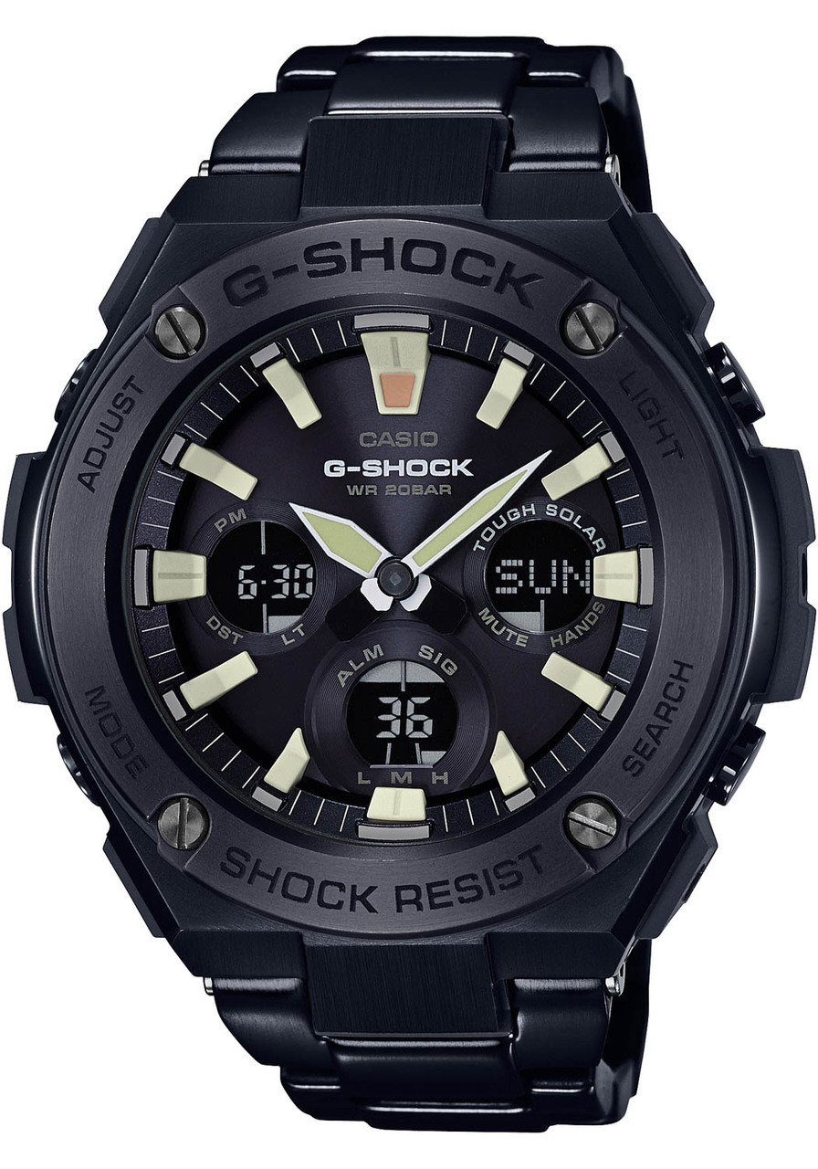 G shock g steel all black lume for Watches g shock