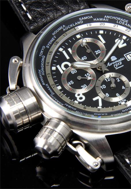 Aeromatic 1328A Cannon Worldtime Chronograph
