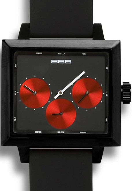 Satellite Dual Time Automatic -Red