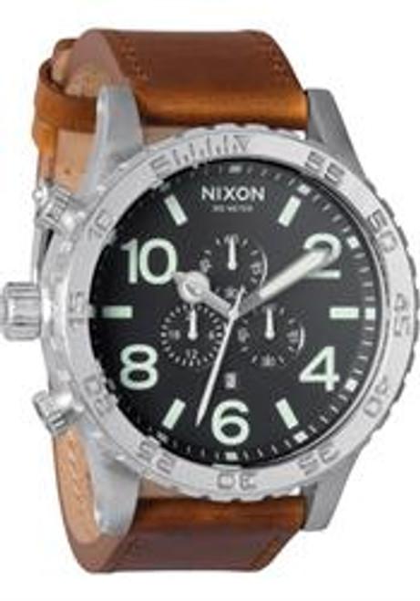 Nixon 51-30 Chrono Leather Black/Saddle