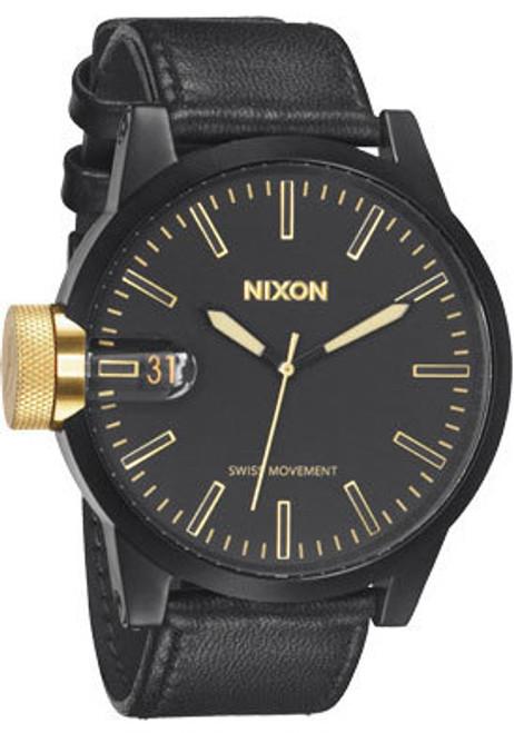 Nixon Chronicle Matte Black/Gold