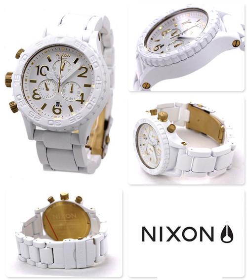 Nixon 42-20 Chrono All White/Gold